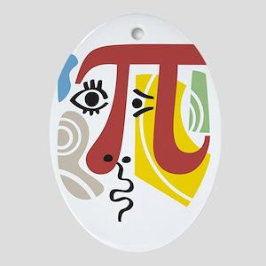 Pi Symbol Pi-Casso Oval Ornament