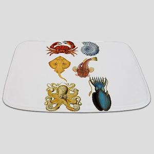 crab seashell octopus coastal Bathmat