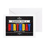 Colorful Chalkboard Birthday Greeting Cards