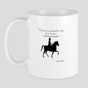 "Churchill horse quote ""No tim Mug"