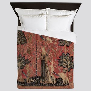 Unicorn and Lady Queen Duvet