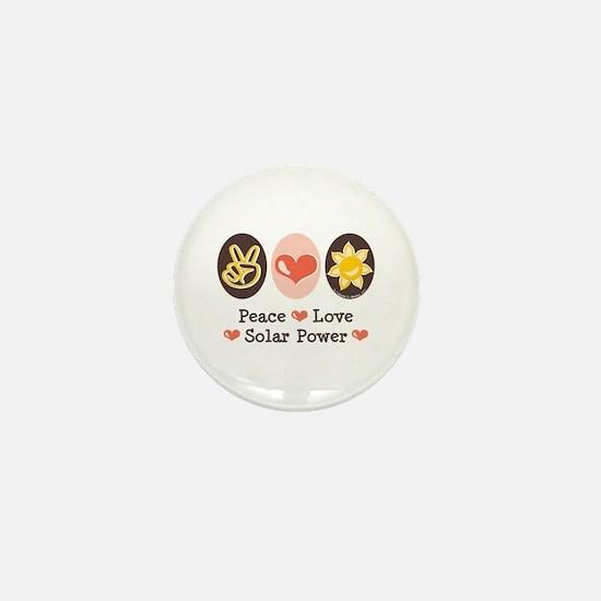 Peace Love Solar Power Mini Button