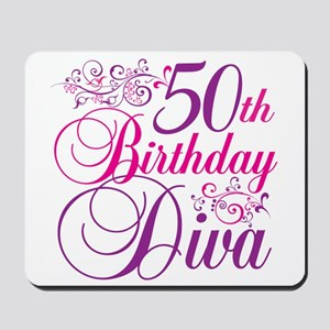 50th Birthday Diva Mousepad