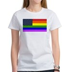 Gay American Flag Women's T-Shirt