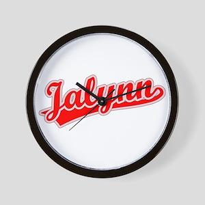 Retro Jalynn (Red) Wall Clock
