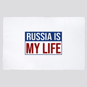 Russia Is My Life - Flag of Russia - R 4' x 6' Rug