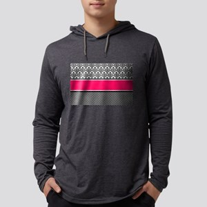 hot pink damask Long Sleeve T-Shirt
