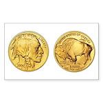 Wy-Gold Indian/Buffalo Rectangle Sticker