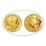 Wy-Gold Indian/Buffalo Oval Sticker (10 pk)