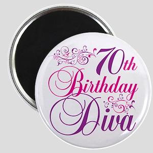 70th Birthday Diva Magnet