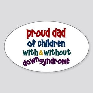 Proud Dad.....2 (With & Without DS) Oval Sticker