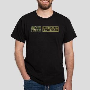 U.S. Navy: Proud Father (Camo) Dark T-Shirt