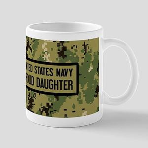 U.S. Navy: Proud Daughter (Camo) 11 oz Ceramic Mug