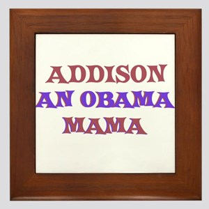 Addison - An Obama Mama Framed Tile