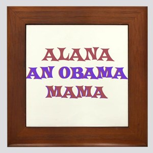 Alana - An Obama Mama Framed Tile