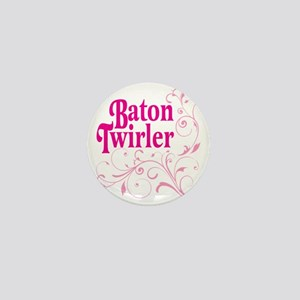 Baton Twirler Mini Button