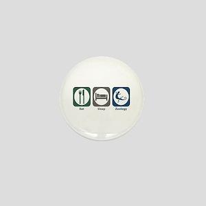 Eat Sleep Zoology Mini Button