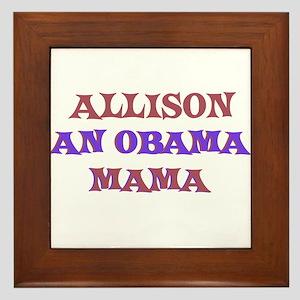 Allison - An Obama Mama Framed Tile