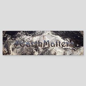 Earth Matters Small Print Bumper Sticker