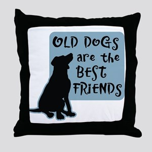 Old Dogs-Best Friends Throw Pillow