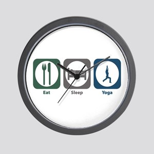 Eat Sleep Yoga Wall Clock