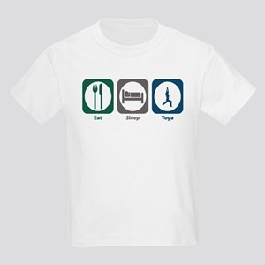 Eat Sleep Yoga Kids Light T-Shirt