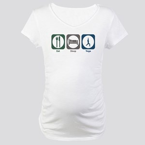 Eat Sleep Yoga Maternity T-Shirt