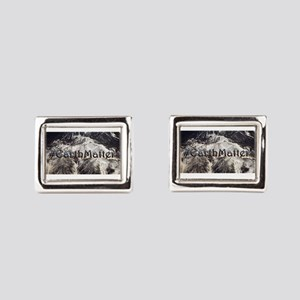 Earth Matters Small Print Rectangular Cufflinks