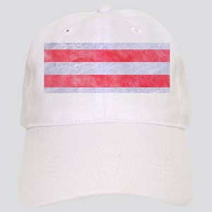 STRIPES2WHITE MARBLE & RED WATERCOLOR Cap