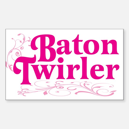 Baton Twirler Rectangle Decal