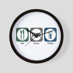 Eat Sleep X-Ray Wall Clock