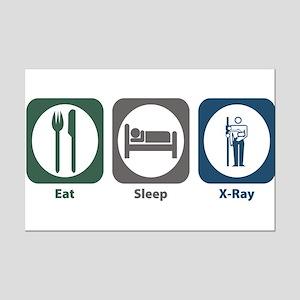 Eat Sleep X-Ray Mini Poster Print