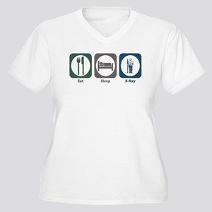 Eat Sleep X-Ray Women's Plus Size V-Neck T-Shirt