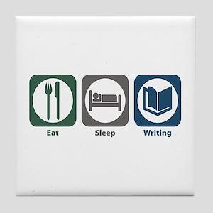 Eat Sleep Writing Tile Coaster
