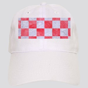 SQUARE1 WHITE MARBLE & RED WATERCOLOR Cap