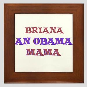 Briana - An Obama Mama Framed Tile