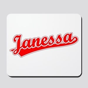 Retro Janessa (Red) Mousepad