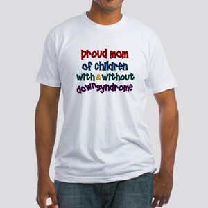 Proud Mom....2 (With & Without DS) Fitted T-Shirt