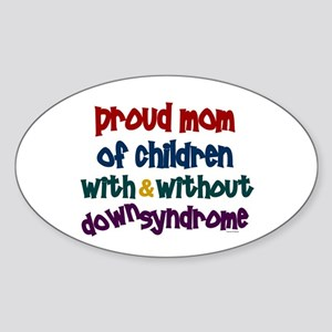 Proud Mom....2 (With & Without DS) Oval Sticker