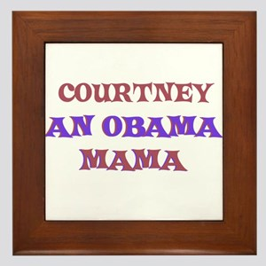 Courtney - An Obama Mama Framed Tile