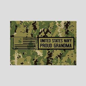 U.S. Navy: Proud Grandma (Camo) Rectangle Magnet