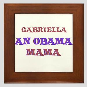 Gabriella - An Obama Mama Framed Tile