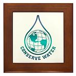 Conserve Water Framed Tile