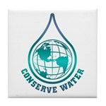 Conserve Water Tile Coaster