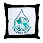 Conserve Water Throw Pillow