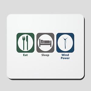 Eat Sleep Wind Power Mousepad