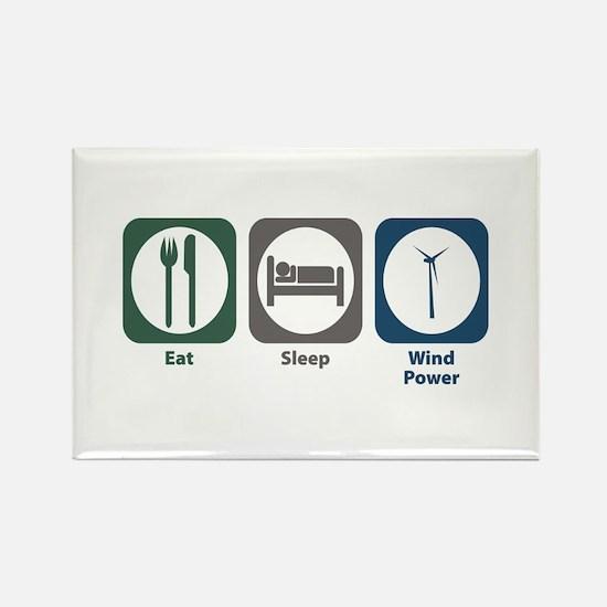 Eat Sleep Wind Power Rectangle Magnet