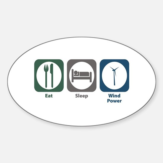 Eat Sleep Wind Power Oval Decal