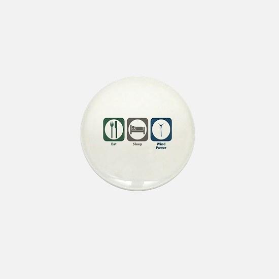 Eat Sleep Wind Power Mini Button
