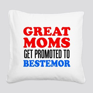 Promoted To Bestemor Drinkware Square Canvas Pillo